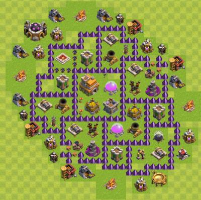 レベル7の最強配置(クラン対戦用と蜂の巣 ...